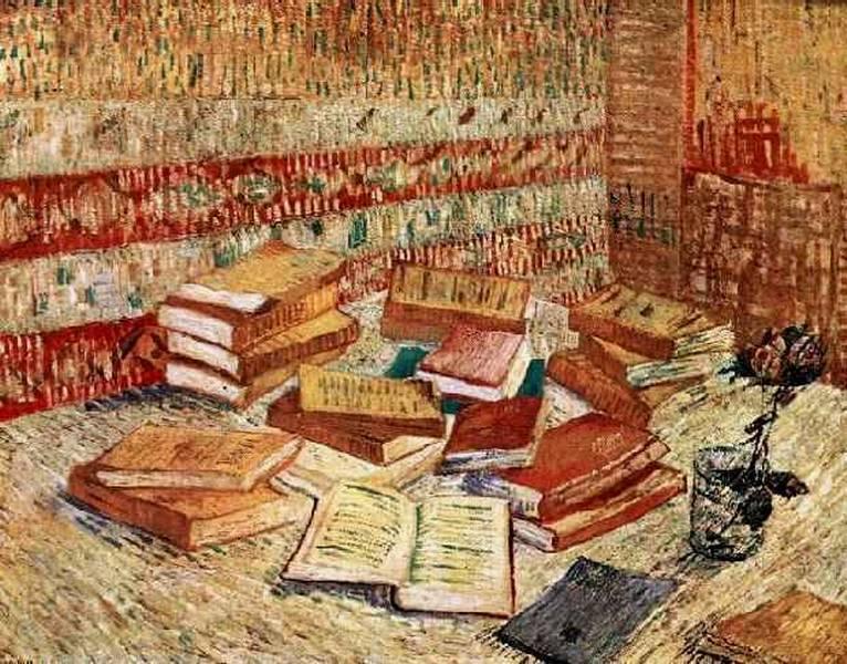 Natura morta con libri e una rosa, Vincent Van Gogh